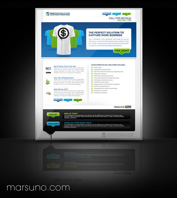 Inkminded Landing Page