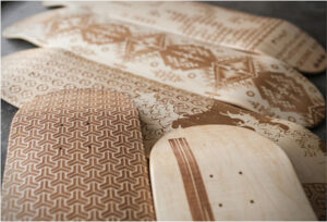 Creative Etched Skateboards