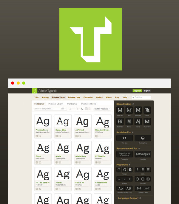 Typekit Practice by Adobe
