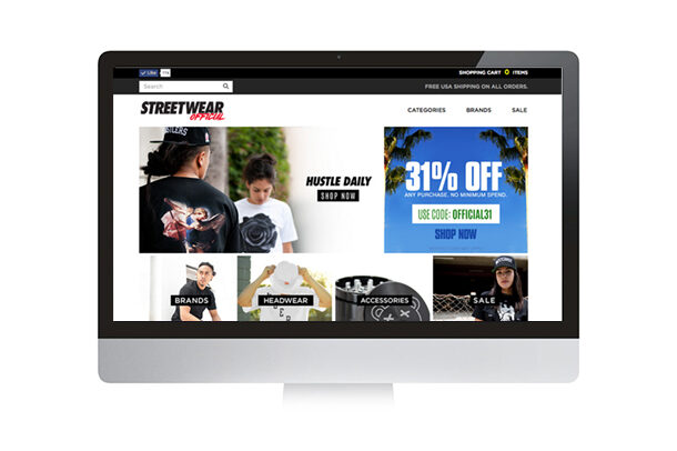 Streetwear Official Site Design, Build + Customization