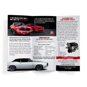 D&P Classics Tri-Fold Brochure