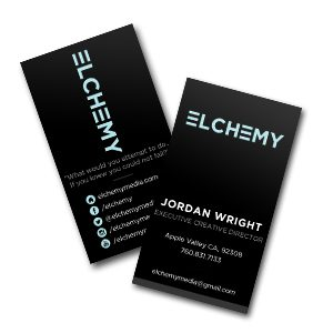 Elchemy Logo and Business Card